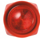 IP55 2way Sounder/Strobe Red Body Red Lens 100 dBA